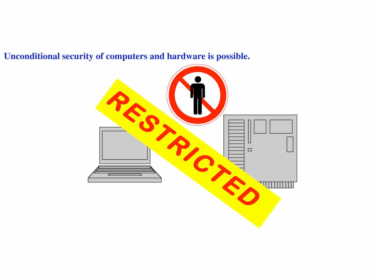 Unconditionally secure computers